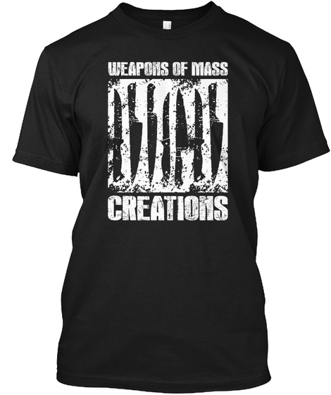 Weapons Of Mass Creations  Black T-Shirt Front