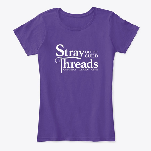 Classic Tee Stray Threads Quilt Guild Purple T-Shirt Front