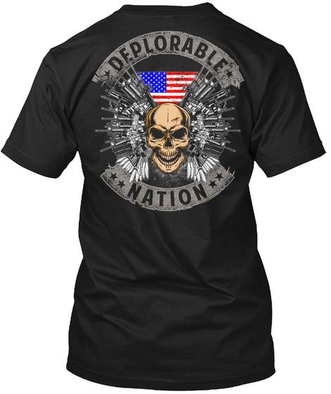 Deplorable Nation Black T-Shirt Back