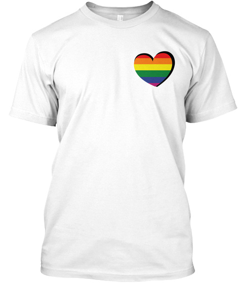 Love And Pride Shirt White T-Shirt Front