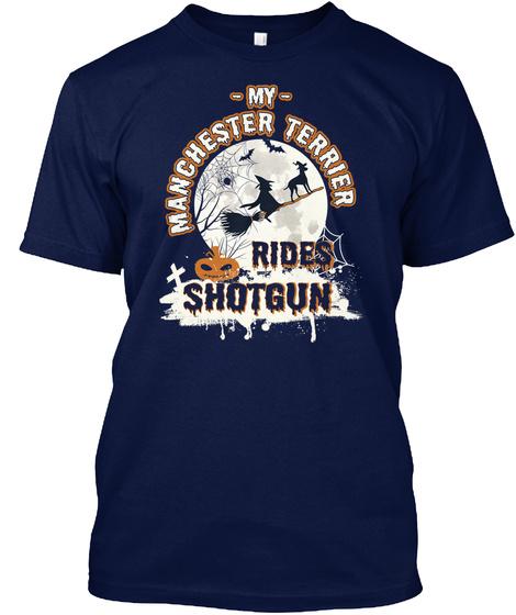 Manchester Terrier Navy T-Shirt Front
