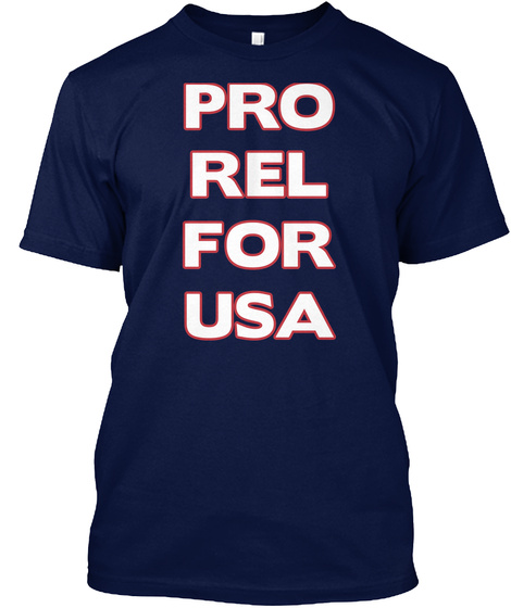 Pro Rel For Usa Navy T-Shirt Front