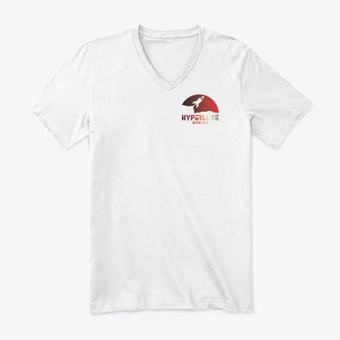 Hyperluxe Rocket Ship White T-Shirt Front