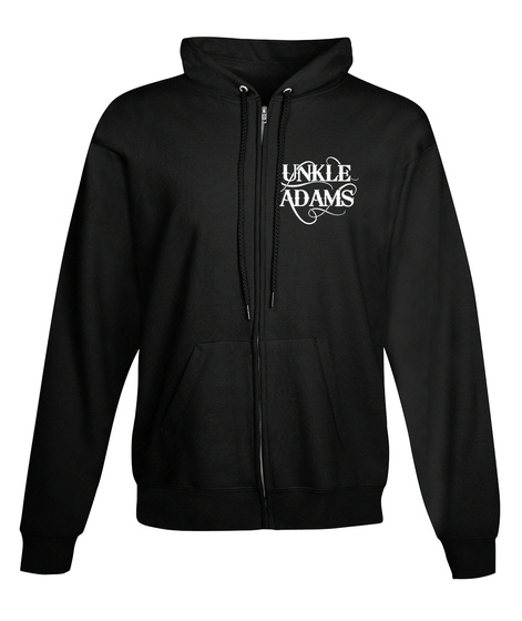 Black And White Unkle Adams Zip Up Black Sweatshirt Front