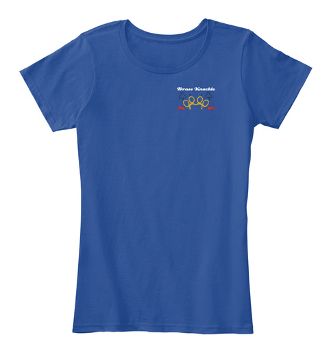 BrassKnuckle PinUpsRescue Deep Royal  T-Shirt Front