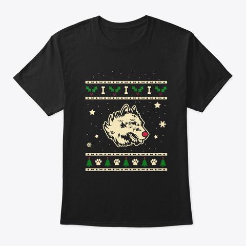 Xmas Belgian Laekenois Shepherd Gift Black T-Shirt Front