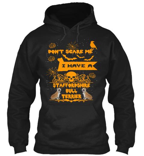 Staffordshire Bull Terrier Halloween Mug Black T-Shirt Front