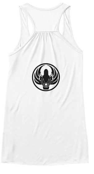 Elemental Flowy Tank 1.0 White Women's Tank Top Back