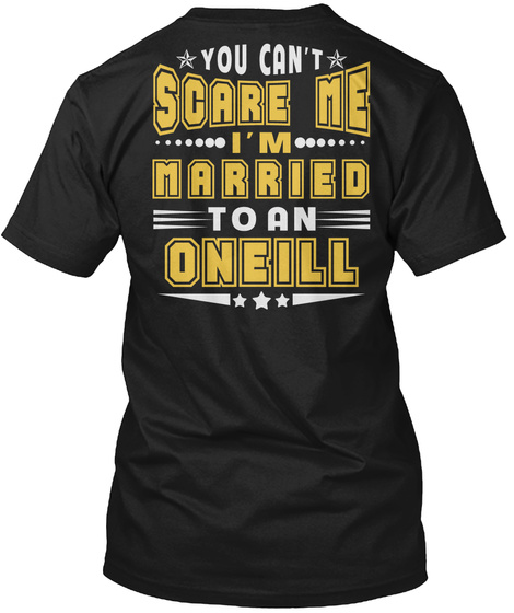 Married To Oneill Thing Shirts Black T-Shirt Back