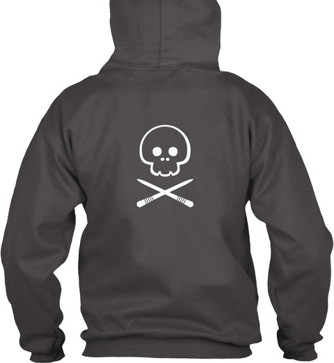 Foodie Hoodie   Lethal Sticks Dark Deep Charcoal T-Shirt Back