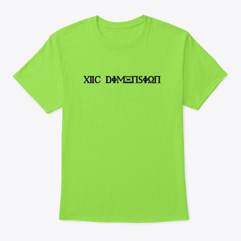527 Dimension Lime T-Shirt Front