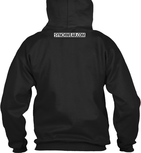 Synchwear.Com Black Sweatshirt Back