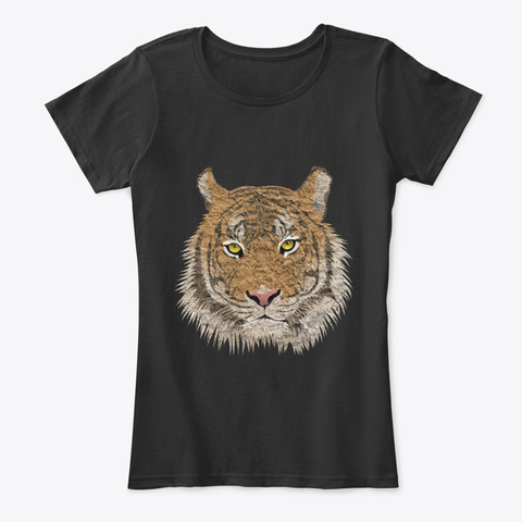 Tiger Shirt, Tiger T Shirt, Great Gift  Black T-Shirt Front