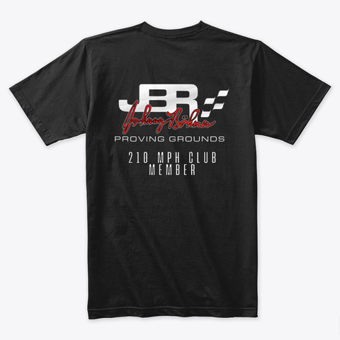 Jbpg 210 Mph Club Shirt Black T-Shirt Back
