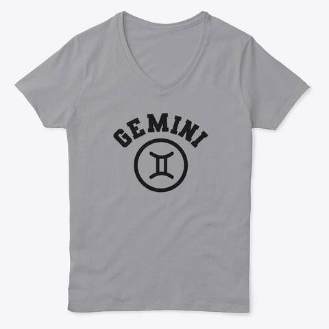 Gemini Sign Birthday Zodiac Horoscope Light Steel T-Shirt Front