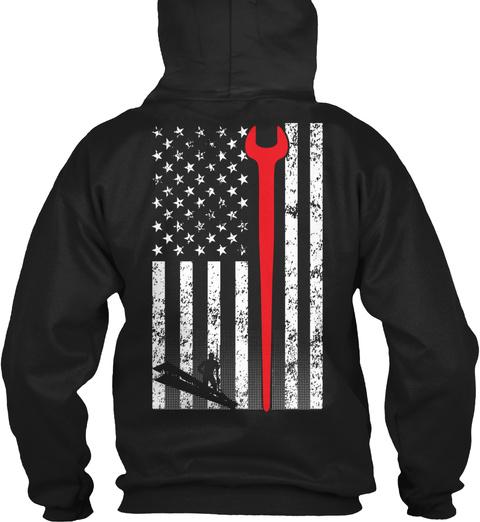 American Ironworker Black T-Shirt Back