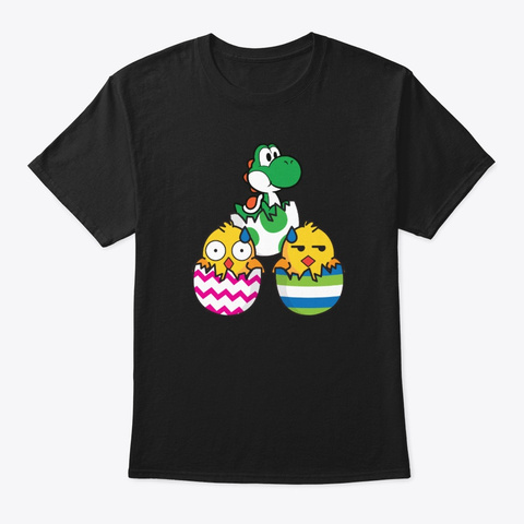 Easter | Easter Eggs | Surprise | Chick Black T-Shirt Front
