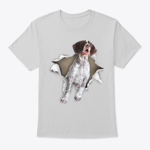 German Shorthaired Pointer Torn Paper Light Steel T-Shirt Front