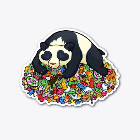 Panda Sleeping On Candy Standard T-Shirt Front