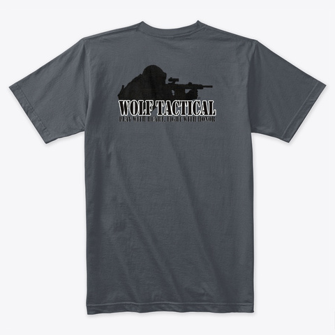 Wolf Tactical Front And Back Big Logo Heavy Metal T-Shirt Back