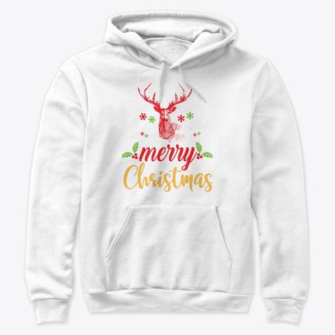 Merry Christmas Tees, Hoodies, Mugs White Sweatshirt Front
