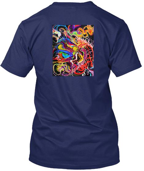 China Town Dragon  Midnight Navy T-Shirt Back
