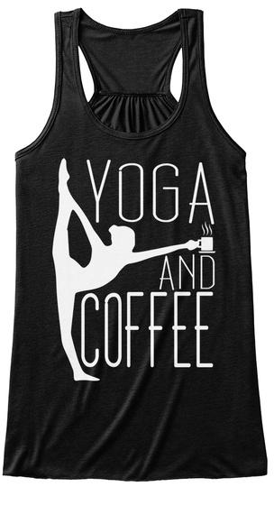 Yoga And Coffee Black Maglietta Front