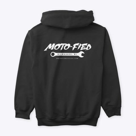 Moto Fied Shop Hoodie Black T-Shirt Back