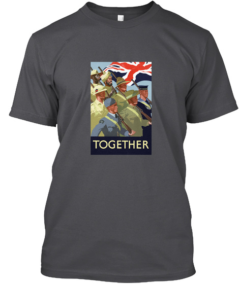 Together Charcoal T-Shirt Front