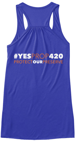 #Ye Sprop420 Women's Tank True Royal Women's Tank Top Back