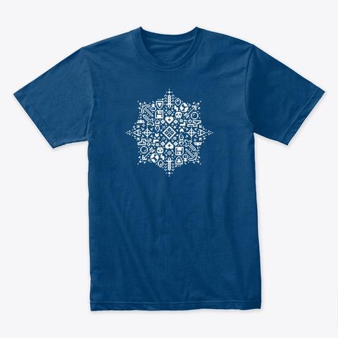 Pixel Art Retro Gaming Snowflake Cool Blue T-Shirt Front