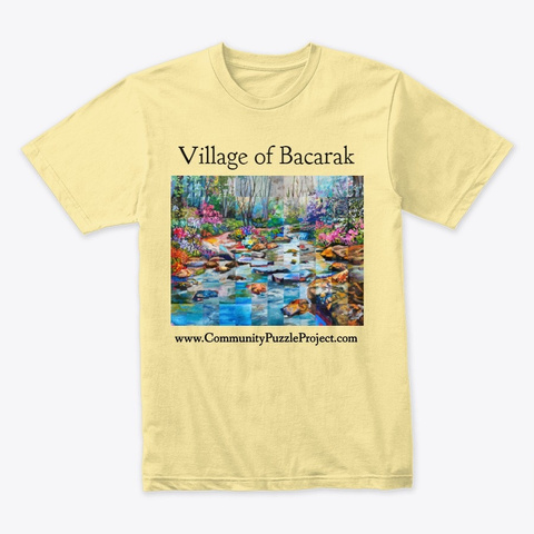 Village Of Bacarak Puzzle Products Banana Cream T-Shirt Front