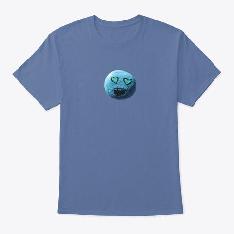 Heart Struck Happy Rock Tee Denim Blue T-Shirt Front