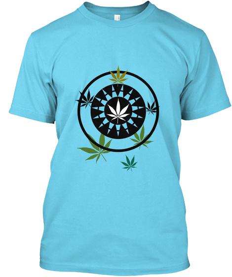 Weed Box Premium T Shirt 2 Tahiti Blue T-Shirt Front