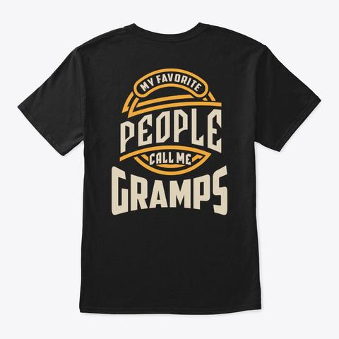 Mens My Favorite Gramps Grandpa Gift Black Camiseta Back
