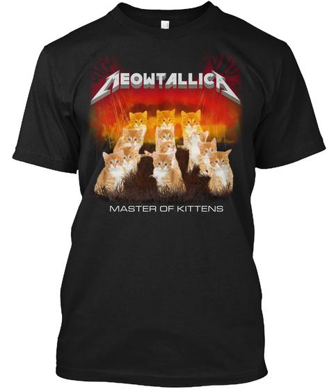 Aeowtallow Master Of Kittens Black T-Shirt Front