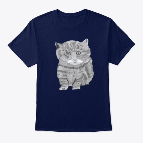 My Kitty Cat Navy T-Shirt Front