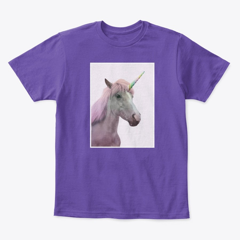 Rainbow Unicorn Purple  T-Shirt Front