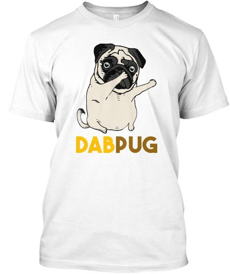 Dabpug White T-Shirt Front
