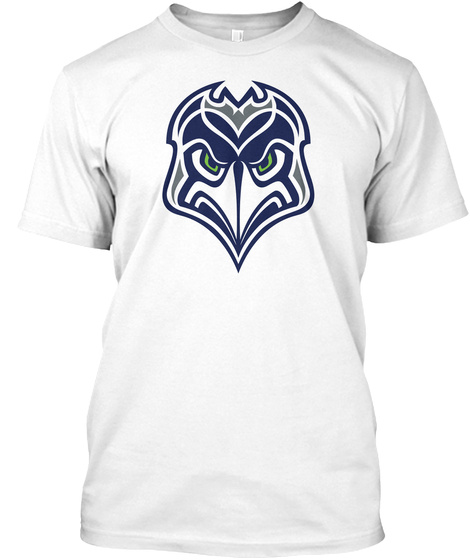 Hawk Heads White T-Shirt Front
