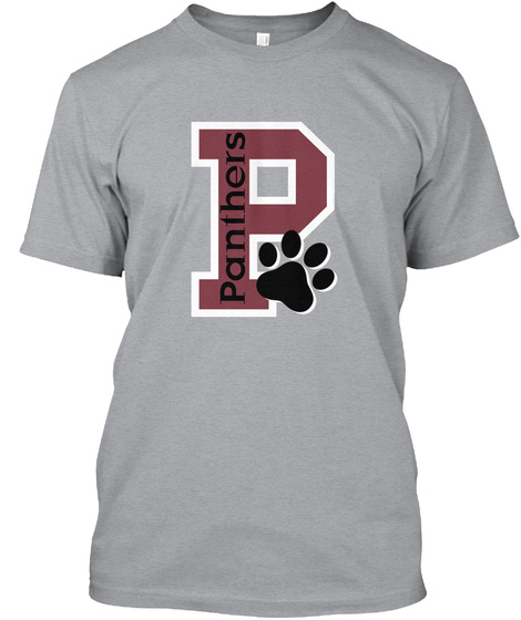 P Panthers Heather Grey T-Shirt Front