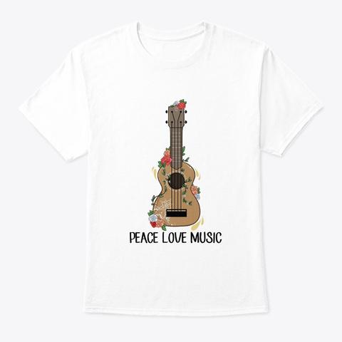 Flower Children Peace Love Music Costume White T-Shirt Front