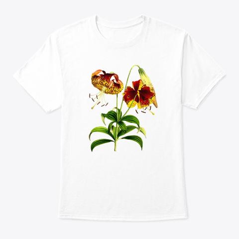 Botanical Beautiful Vintage White T-Shirt Front