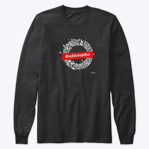Ink Studdedspikes Motif 2 Black T-Shirt Front