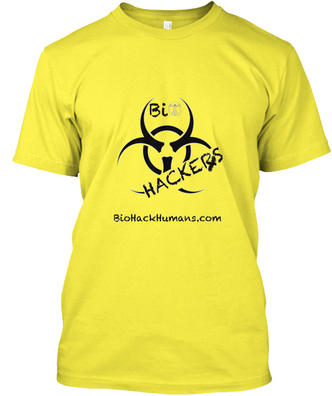 Bio Hackers Start Up Project Yellow T-Shirt Front