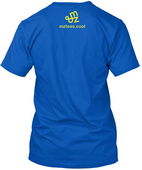 Robot Dude Royal T-Shirt Back