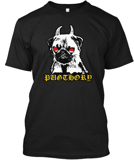 Puglord Black T-Shirt Front