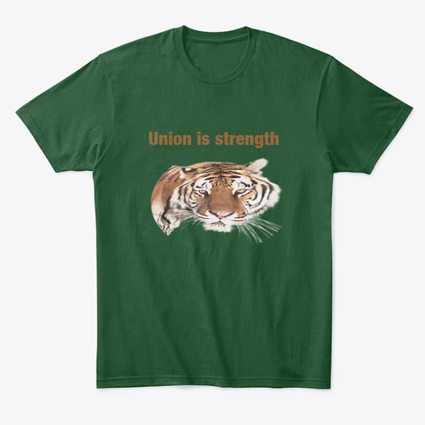 Tiger Forest Green  T-Shirt Front