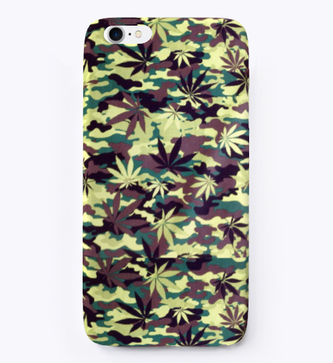 Camo Phone Cases | Weed Life White T-Shirt Front