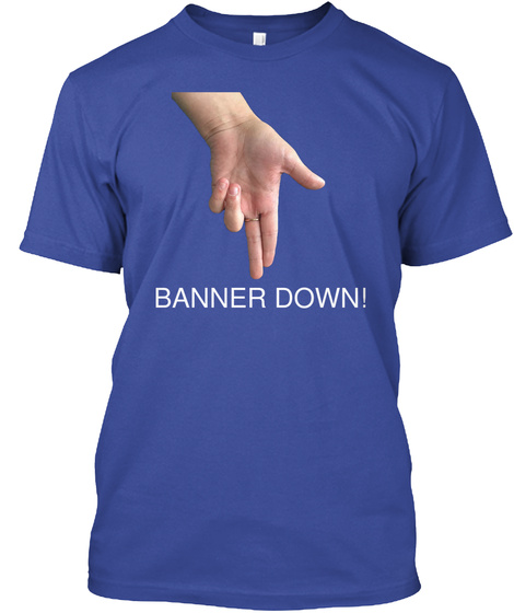 Banner Down Deep Royal T-Shirt Front